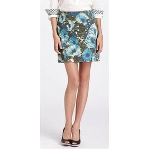Anthropologie Postmark floral corduroy mini skirt